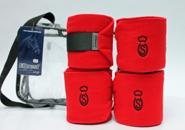 OS Oldenburger Fleece Bandagen 4er Set in rot