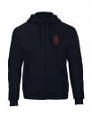 Oldenburger Sweatjacke Hoodie Unisex in navi mit Stick