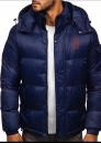 Oldenburger Winterjacke in blau mit Stick