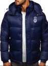 Oldenburger Springpferde Winterjacke in blau mit Stick
